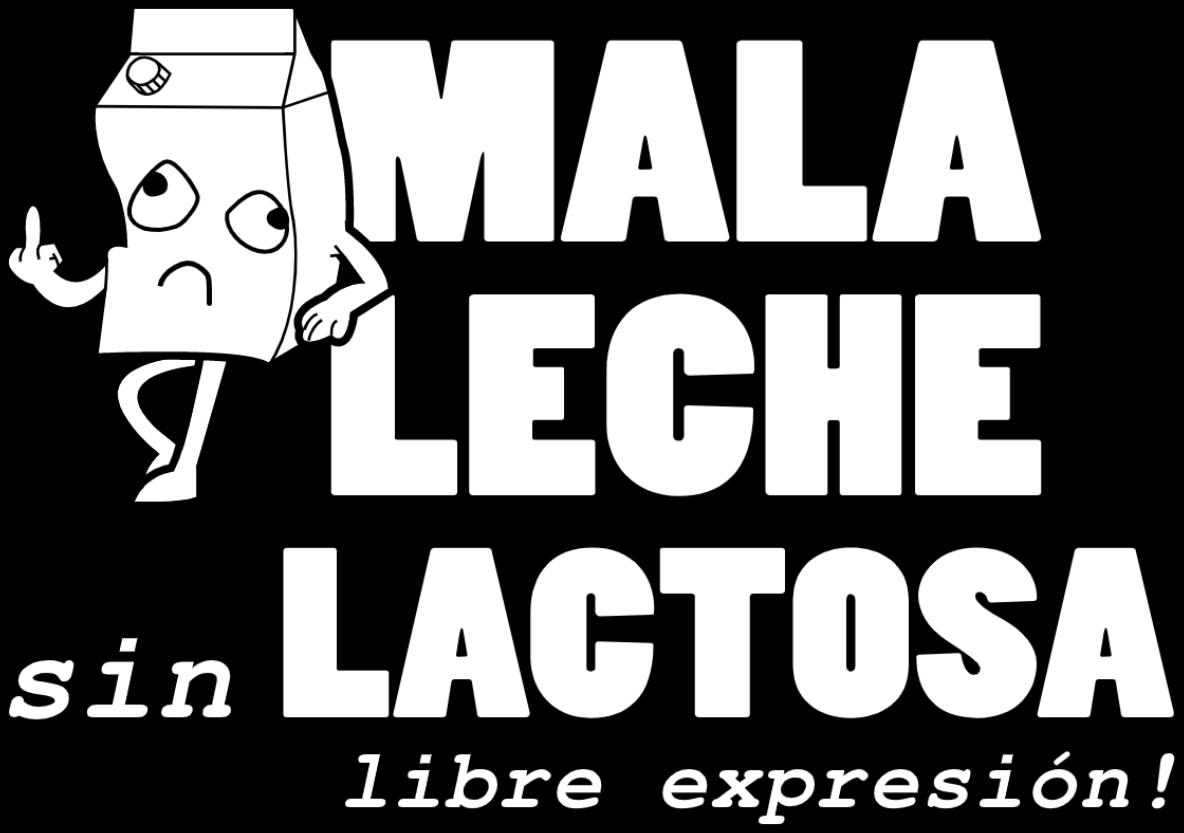 Mala Leche Logo Sin Lactosa
